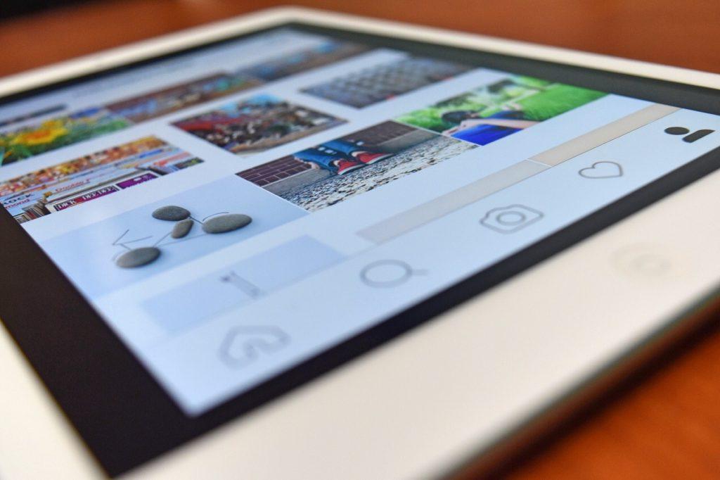 instagram pantalla
