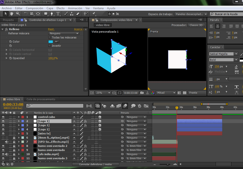 cubo after effects