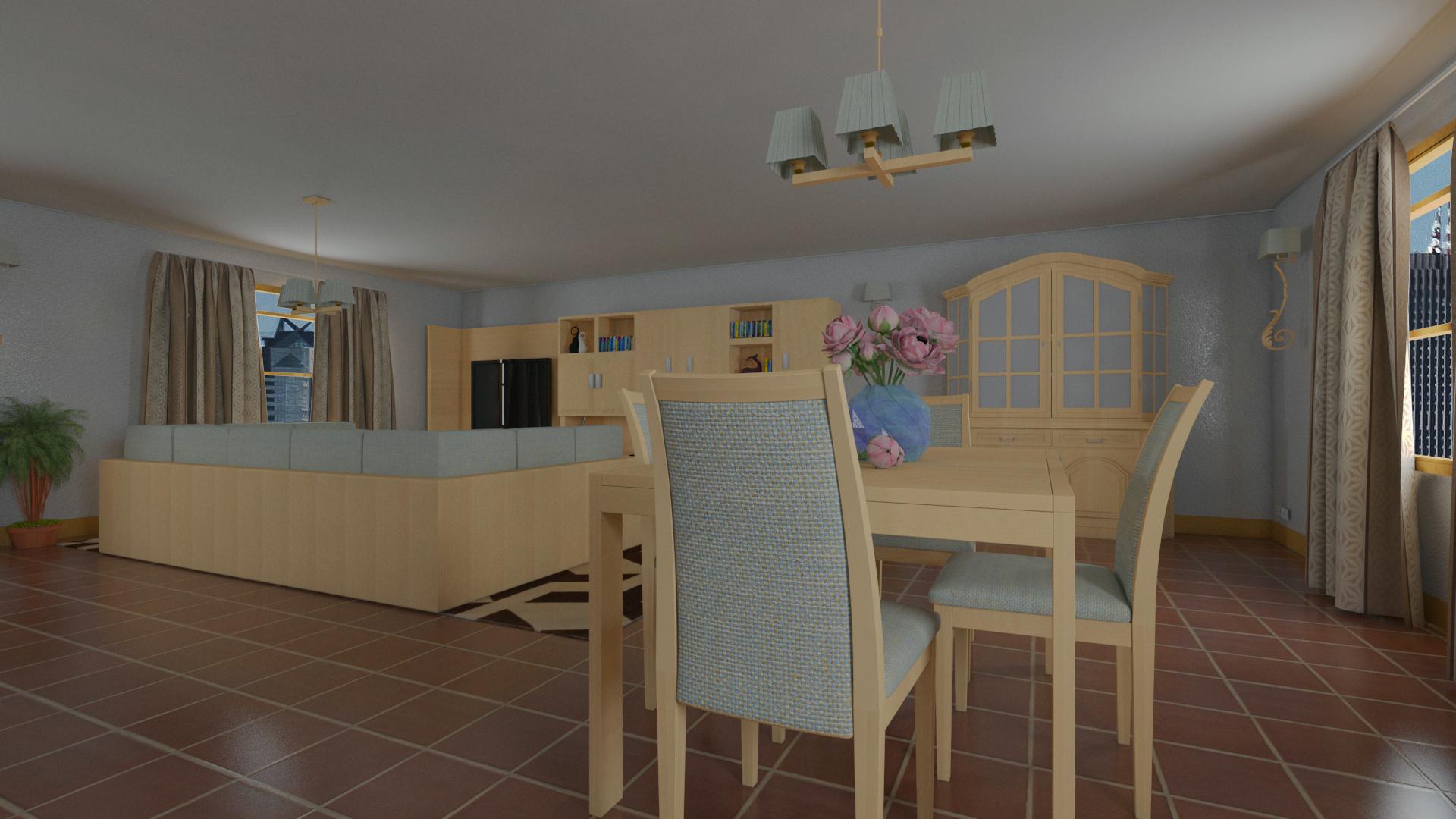 Habitaci n en 3d max ver nica ruiz for Modelar habitacion 3d max