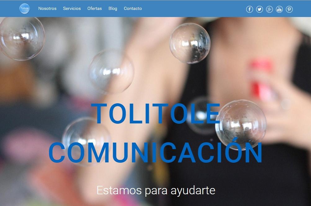 Web Tolitole Comunicación
