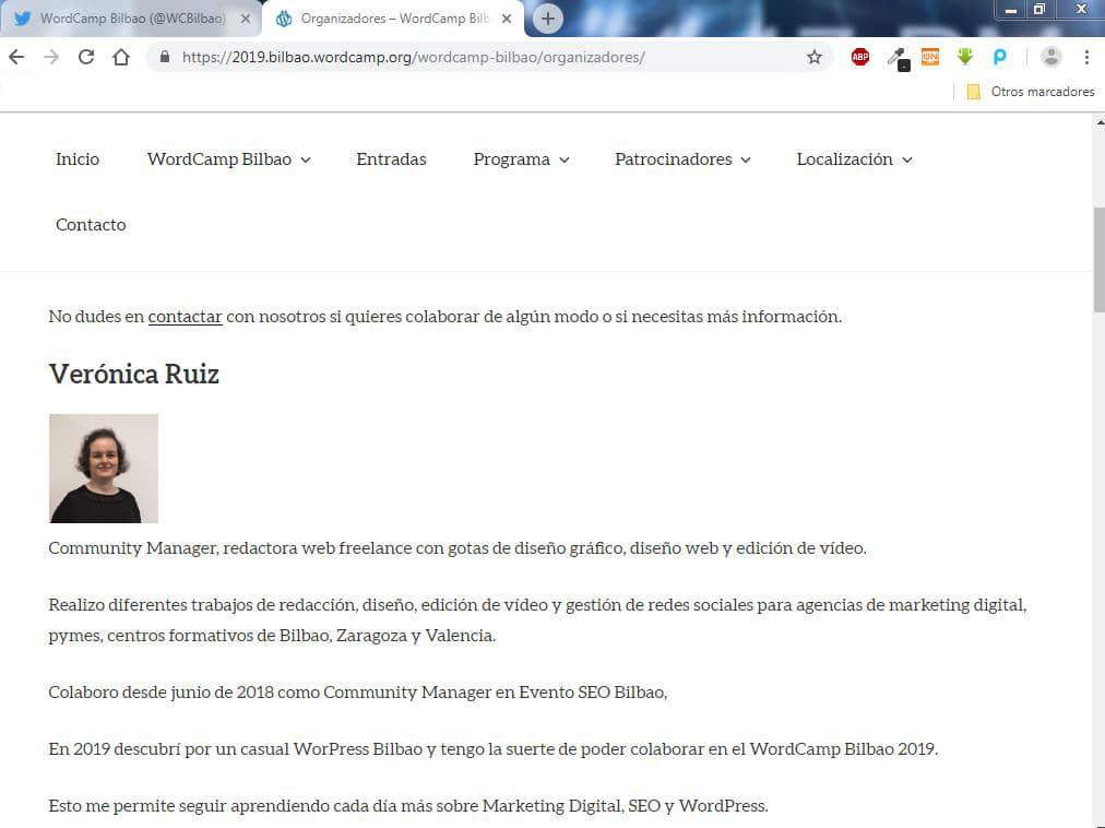 veronica ruiz WordCamp Bilbao