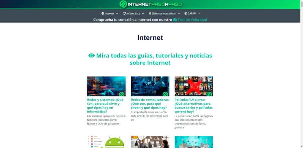sección de internetpasoapaso.com